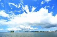 宍道湖と雲 - 彩