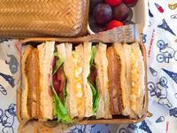サンドイッチ弁当 - 平成のドカ弁。と。超高齢妊婦生活。