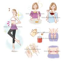 情報誌「わたし日和」ダイエットイラスト - 女性誌を中心に活動するイラストレーター ★★清水利江子の仕事ブログ