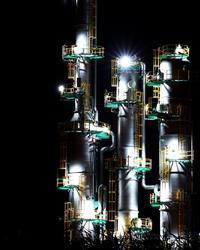 苫小牧の美しい工場夜景 - 北国の花鳥風月