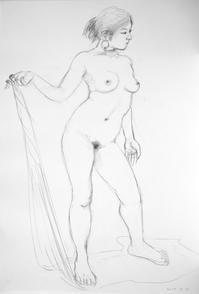 裸婦素描大きさB2 - 黒川雅子のデッサン  BLOG版