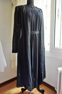 黒ジョーゼットワンピースとロングジャケットのセット   sold out! - スペイン・バルセロナ・アンティーク gyu's shop