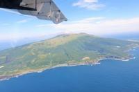 空からの眺め - 三宅島風景