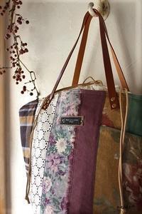 マザーズバッグにも♪はぎれで秋色シックな巾着マルシェ&マジックゼリー - neige+ 手作りのある暮らし