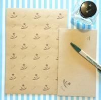 タンポポやリボン柄のレターセット - mon livre diary