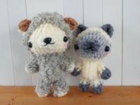 [みかづき工房さん] あみぐるみの羊さんとシャム猫さんを納品♪ - Smiling * Photo & Handmade 2