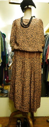 70~80's Silk Nyron onepiece - carboots