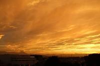 笠雲富士と夕陽 - Quetzalcóatl 2
