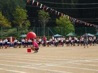 小学校の運動会(1) - 飛騨山脈の自然