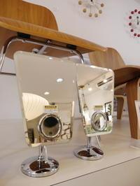 DULTON Trapezoid rimless mirror with magnifying mirror - GLASS ONION'S BLOG