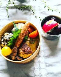 栗ご飯のおむすび弁当 - ほんわか~ゆったり