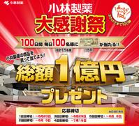 当選!小林製薬1万円 - Bonjour♪たぬきさん
