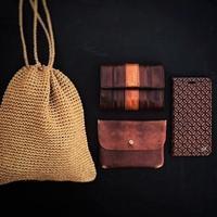 東北クロッシェ村の笹編み巾着バッグ - 雑貨店PiPPi
