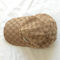 Vintage 90s Gucci bootleg monogram cap ヴィンテージ グッチ ブート 古着 6パネル キャップ - Used&Select 古着屋 コーナーストーン CORNERSTONE