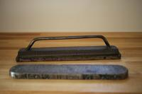 鉄の重し - 宙吹きガラスの器