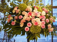 女性のお誕生日にスタンド花。南5西4のビル9階にお届け。2017/09/05。 - 札幌 花屋 meLL flowers
