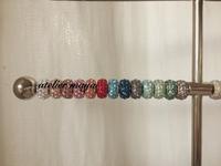 ロンデルでカラーサンプル作り - 芦屋・西宮 グルーデコ アクセサリー教室  創意飾品工作室   グルーデコとアロマハイストーン        atelier maya(JGA認定校)