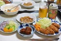 牡蛎フライと肉団子 - おいしい日記