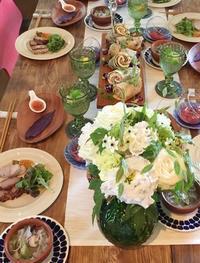 みよちゃんもお料理教室へゆく(^^♪ - お花に囲まれて