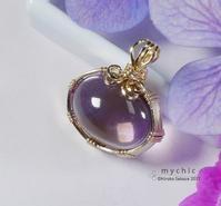 アメトリン ペンダント / Ametrine Pendant (wire wrapped pendant) - 花と天然石ハンドメイドジュエリー