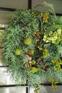 チェリッシュさんのグリーンリース - お花に囲まれて