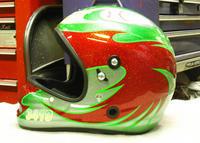 アライ謹製 競艇用ヘルメットをペイントしてみた。 - DRESS OUT  White Blog