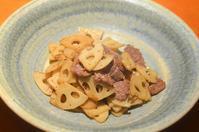 牛肉と蓮根のオイスターソース炒め - まほろば日記