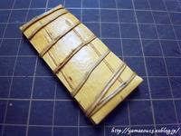 糸切り鋏キャップ(1枚皮)タイプを作る - ロシアから白樺細工
