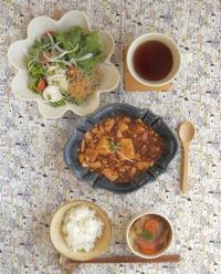 麻婆豆腐の朝ごはん - 陶器通販・益子焼 雑貨手作り陶器のサイトショップ 木のねのブログ