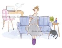 ドラッグストアのフリーペーパー「Kiita」秋号イラスト - 女性誌を中心に活動するイラストレーター ★★清水利江子の仕事ブログ