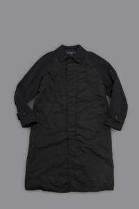 COMME des GARCONS HOMME Nylon Twill Long Coat (Black) - un.regard.moderne