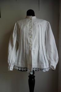 厚手コットン長袖ブラウスジャケット135  sold out! - スペイン・バルセロナ・アンティーク gyu's shop