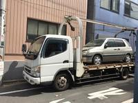 品川区から放置車両をレッカー車で廃車の引き取り撤去しました。 - 廃車戦隊引き取りレンジャー