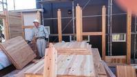 建て方開始 - 木楽な家 現場レポート