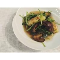茄子と豆苗焼きネギのにんにく煮 - Feeling Cuisine.com