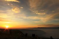 大観峰から望む朝日Ⅰ。 - 青い海と空を追いかけて。