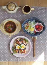 がっつり朝ごはん - 陶器通販・益子焼 雑貨手作り陶器のサイトショップ 木のねのブログ