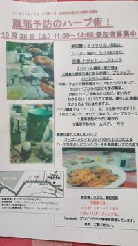 ハーブ講座開催のお知らせ - 鎌倉fonteの日常