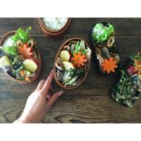 砂肝と空芯菜のオイスター炒めBENTO - Feeling Cuisine.com