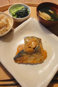 鯖の味噌煮 - 週末は晴れても、雨でも