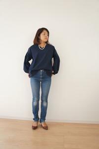 こだわりを詰め込んだふんわりタックスカートの着画です - 親子お揃いコーデ服omusubi-five(オムスビファイブ)