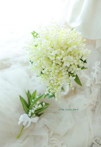 9月に鈴蘭のブーケ ペニンシュラ東京さまへ - 一会 ウエディングの花