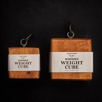 Wooden weight cube - 雑貨店PiPPi