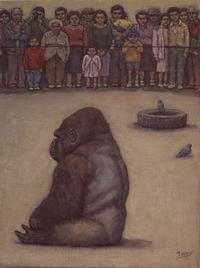 9月27日 ゴリラを見る人 - 川越画廊 ブログ