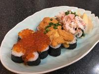 札幌のお土産で、いくらとウニ、蟹がこぼれんばかりの「こぼれ寿司」を作ってみた - キムチ屋修行の道