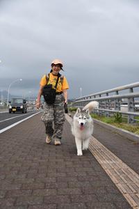 迫る雨雲にあせったぜ (^_^;)  - 犬連れへんろ*二人と一匹のはなし*