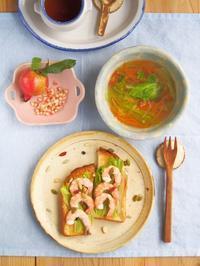 秋の朝ごはん。 - 陶器通販・益子焼 雑貨手作り陶器のサイトショップ 木のねのブログ