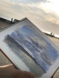 空は雲がある方が。 - 湘南・鎌倉・海の絵〜画家・亀山和明のblog