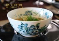 ポルチーニスープ麺 - アン・クベールのおもてなし教室