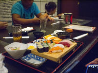 My wife's and my purpose at Nikumaru BF Homes was Sushi Lunch but all of us were satisfied! - SONGS